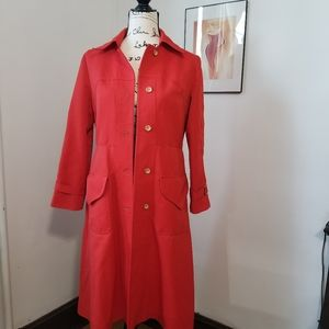 Forecaster Of Boston Red Trench Coat.